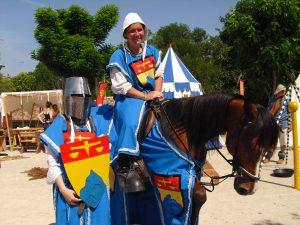 Isidore et Marie en chevalier
